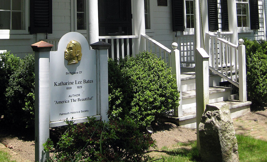 Birthplace of Katherine Lee Bates, Falmouth, Massachusetts.
