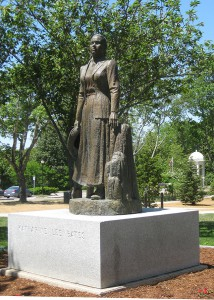Katherine Lee Bates statue, Falmouth, Cape Cod, Massachusetts.