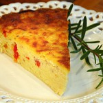 Crustless quiche. Photo Copyright (c) LVO'Connell 2008. All Rights Reserve.