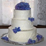 Cape Cod Wedding Cake with Hydrangea