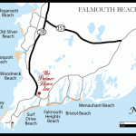 Falmouth Beach Map