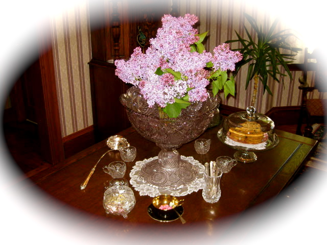 Cape Cod Lilacs in the Parlor