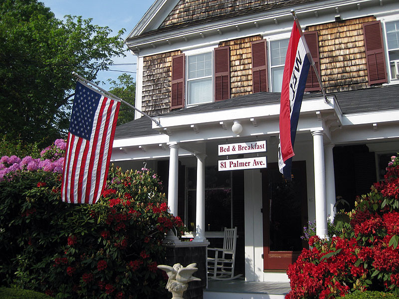 Flags at Cape Cod Bed and Breakfast