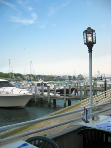 Harbor view Flying Bridge Restaurant, Cape Cod.