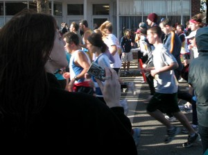 Runners start the Cape Cod Marathin.