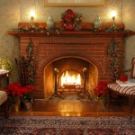 Cape Cod Bed and Breakfast fireplace in the parlor