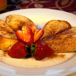 Cape Cod heart shaped french toast.