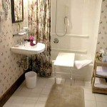 Cape Cod Bed Room D, ADA Ensuite Shower and Bathtub