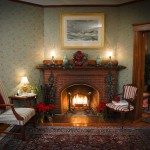 Cape Cod Bed and Breakfast parlor fireplace