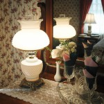 Cape Cod Bed and Breakfast room antique lamp.