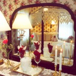 Cape Cod Bed and Breakfast room 2 mirrored dresser.