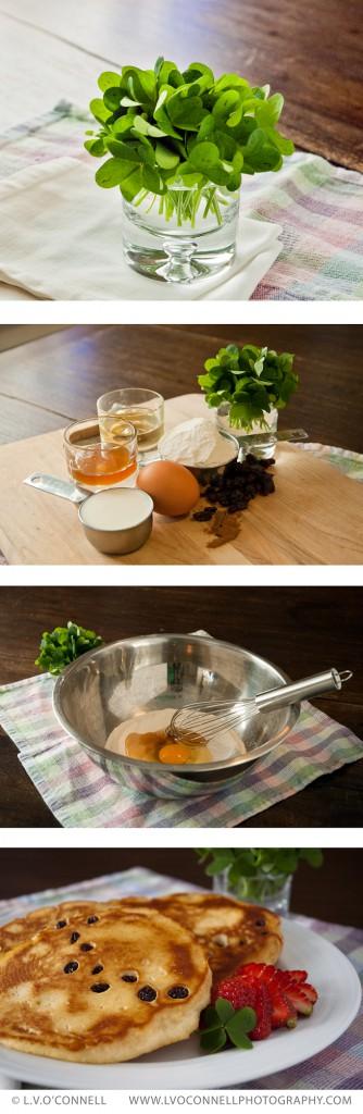 Leprechaun Footprint Pancakes for St. Patrick's Day
