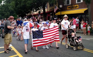 Falmouth 4th of July bicycle parade.
