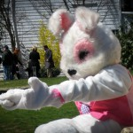 Easter bunny in Falmouth, Cape Cod.