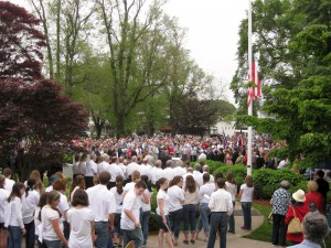 Crowd at the Memorial Day Weekend Ceremony, Cape Cod.