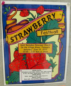 Cape Cod's Strawberry Festival 2012 poster.