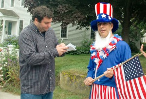 Mike Kasperian as Uncle Sam.