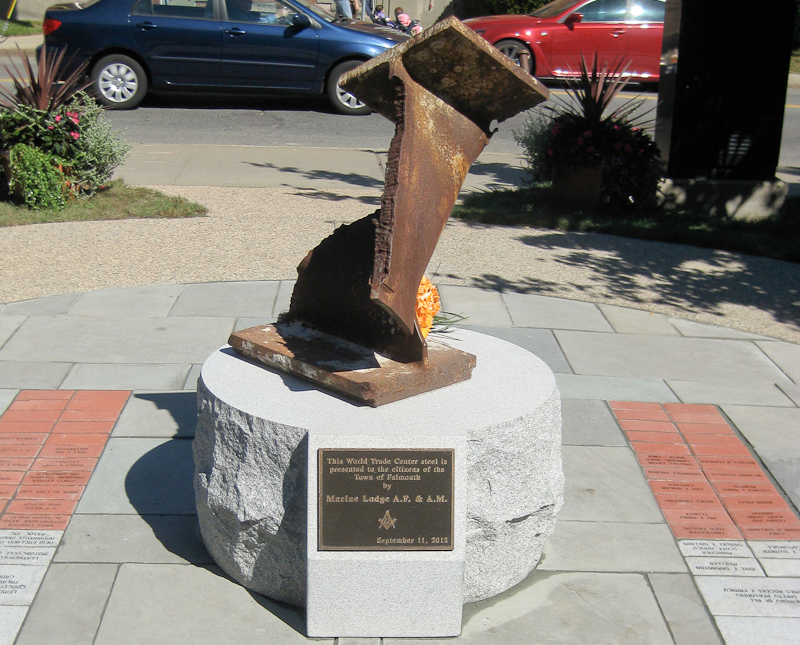 World Trade Center steel Memorial in Falmouth Cape Cod