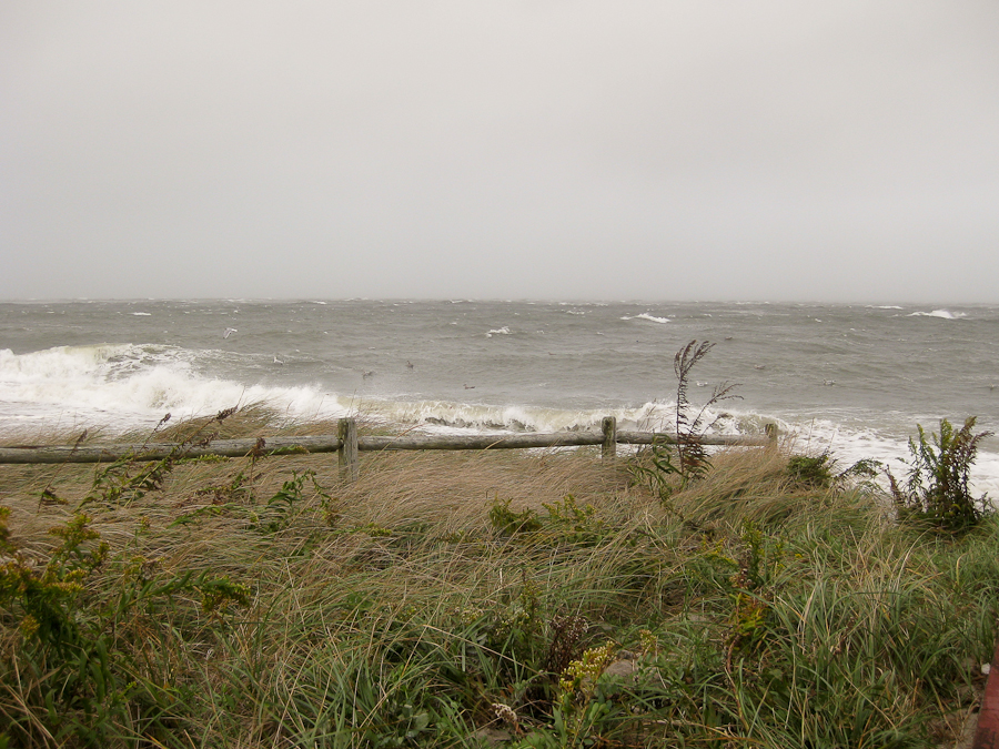 Falmouth Harbor Beach in Storm