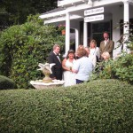 Cape Cod Wedding Photographs on front steps.