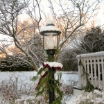 Lamp in snow.