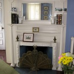 Antique Fireplace and Fan Fireplace Guard
