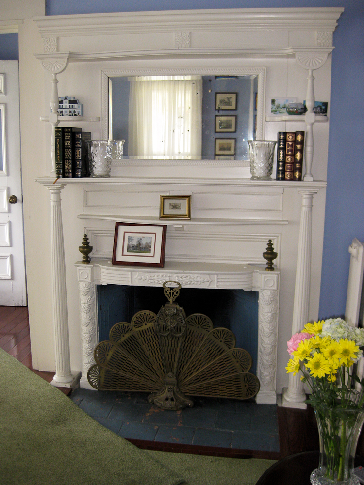 Antique Fireplace And Fan Guard
