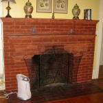 Antique Brick Fireplace