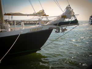 Cape Cod Sailing Liberte's Bow