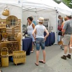Arts and crafts booths, Arts Alive Festival