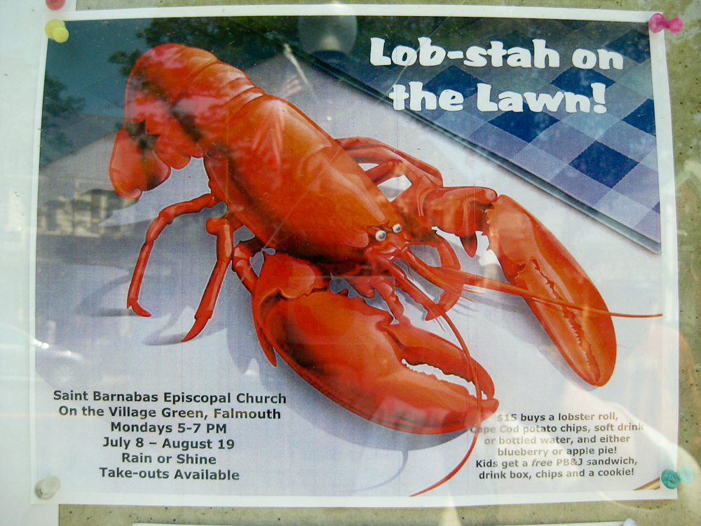 Lobster on the Lawn Poster