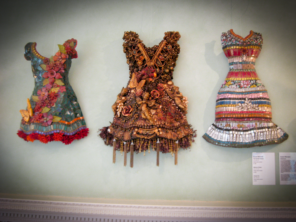 Mosaic dresses by Susan Wechsler at the Signature Mosaic Show