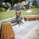 Rachel Carson Memorial at a Woods Hole park.