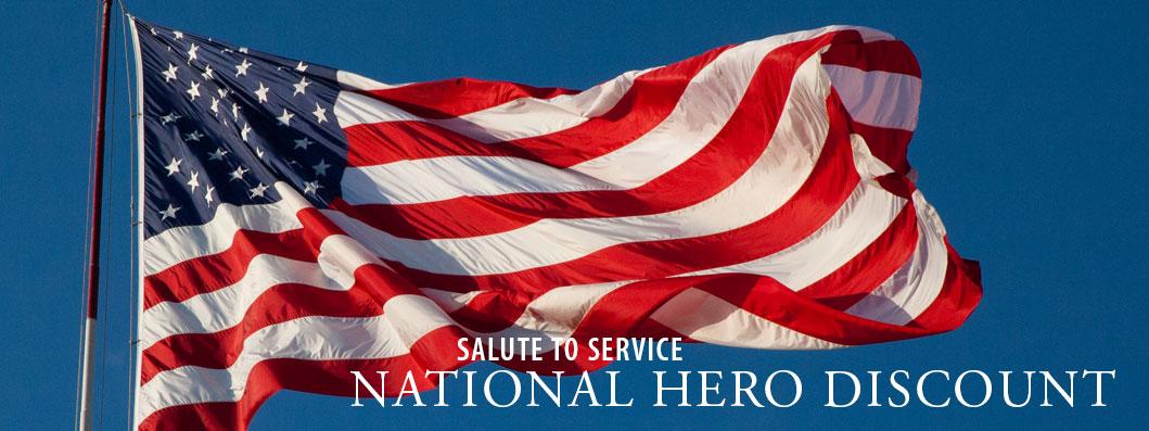 National Hero & Military Discount