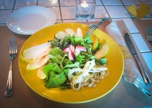 Cape restaurant refiew of La Civetta's Insalata Autunnale