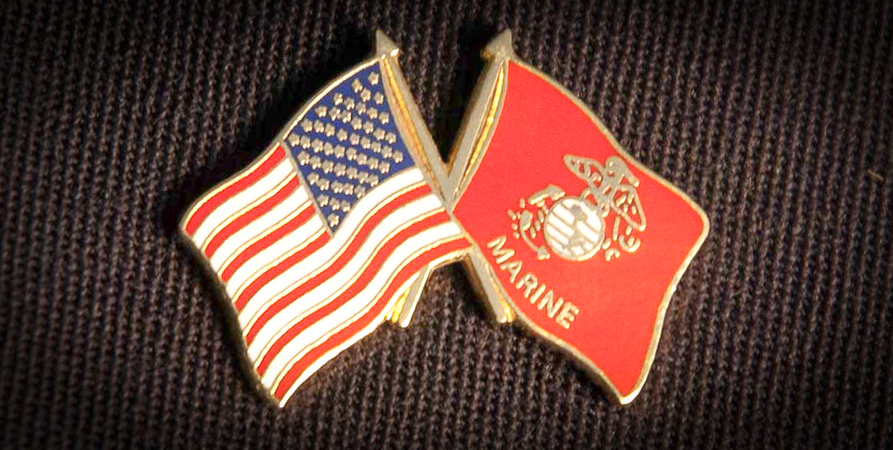 Cape Cod military discount USA USMC Flag Pin