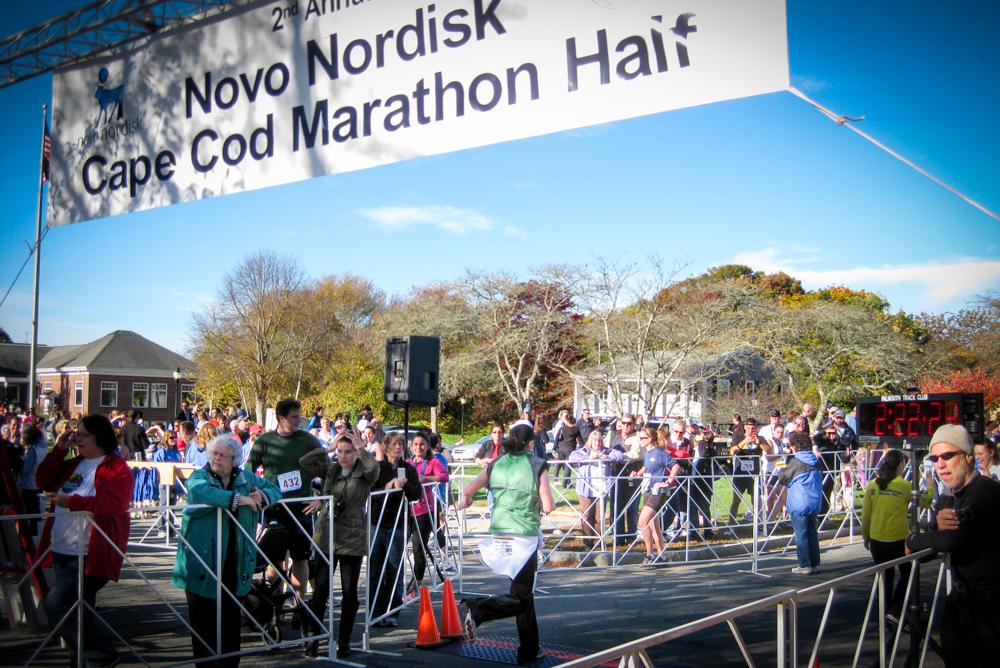 Cape Cod Marathon Finishline