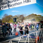 Cape Cod Marathon: teammates cross the finishline.