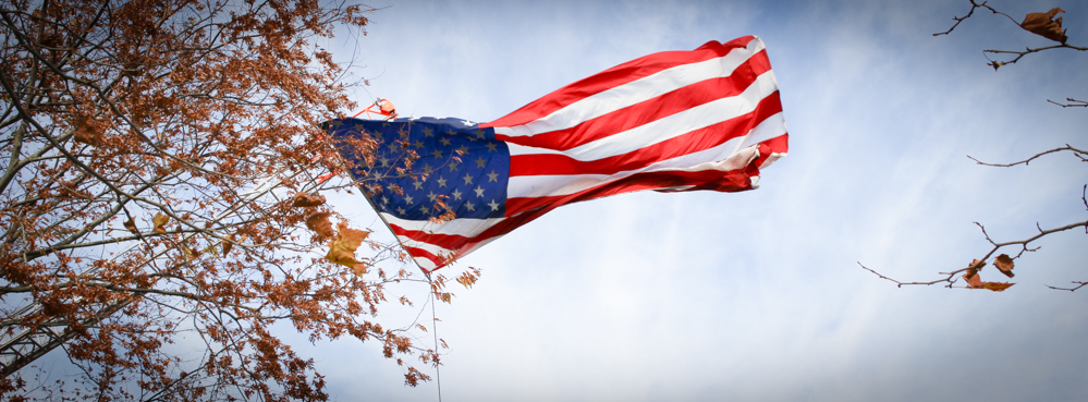US Flag on Veteran's Day