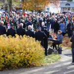 Crowd at Cape Cod Veteran's Day Ceremony