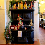 Antique Stove with Christmas Wares