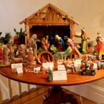Bill Hendel's International Creche Collection on the Table