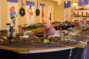 Model Railroad and Engineer at Highfield Hall
