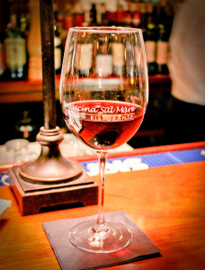 Glass of Wine at La Cucina