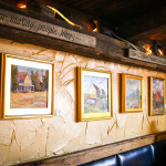 Cape Cod Restaurant Review Quarterdeck: local art on the wall