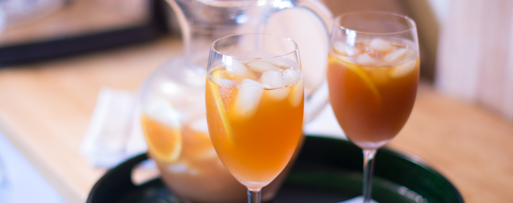 2 glasses of thePalmer House's Cape Iced Tea Recipe