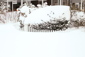 Snow Drift over the fence