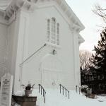 Congregational Church in snow