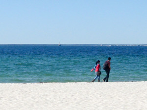 Couple on Falmouth Heights Beach