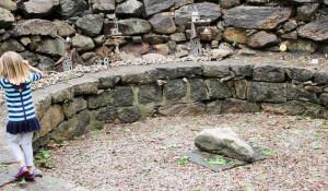 Fairy Houses on a Rock Wall